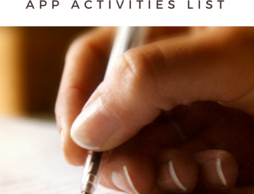 How to Write Your Common App Activities List