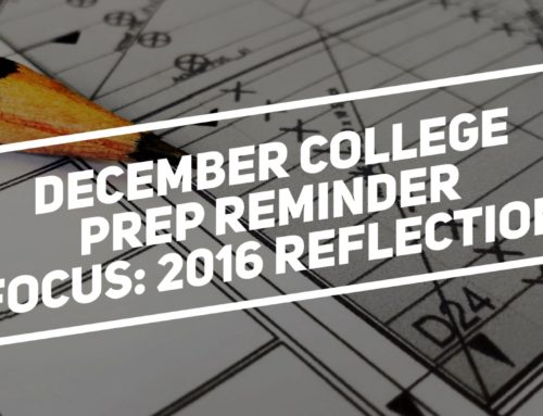 December College Prep Reminder