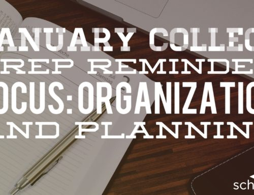 ​January College Prep Reminder