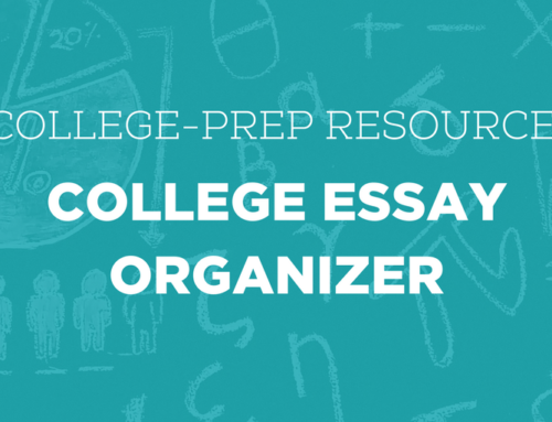 Resource Feature: College Essay Organizer