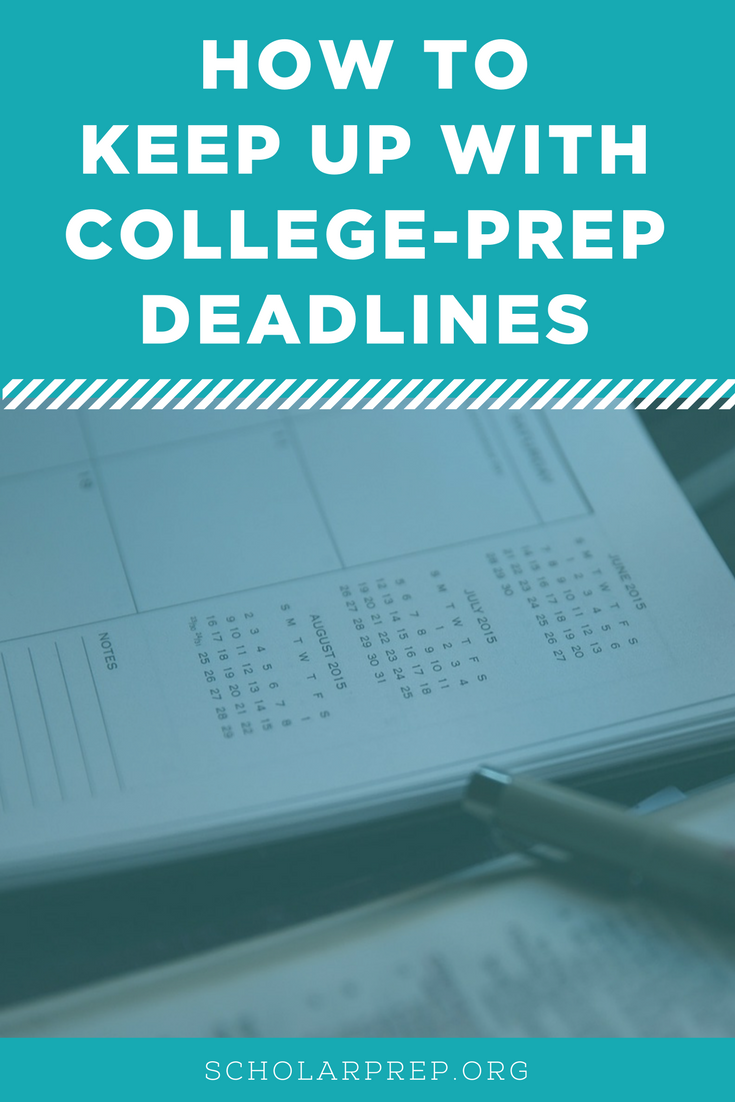 COLLEGE PREP DEADLINES PINTEREST