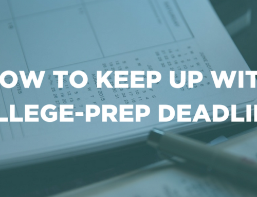 How to keep up with college-prep deadlines