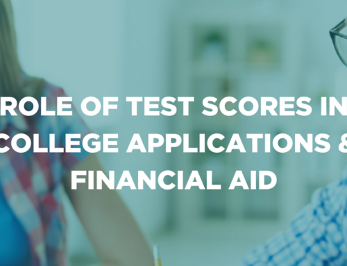 Role of test scores in college applications and financial aid