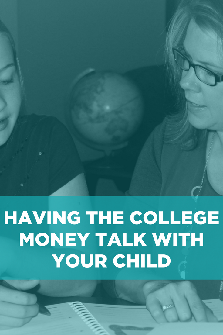 Having the College Money Talk Pinterest