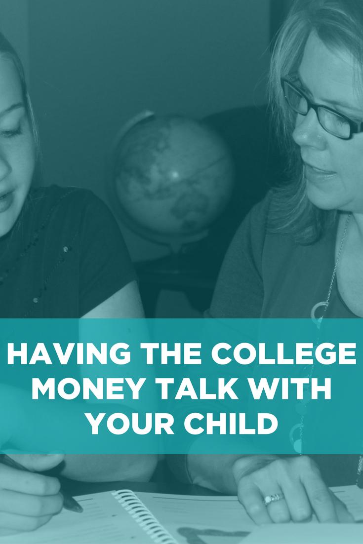 Having the College Money Talk Pinterest