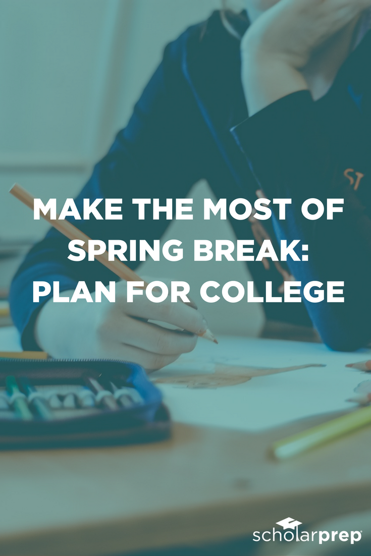 Use spring break to plan for college. Free college list worksheet included.