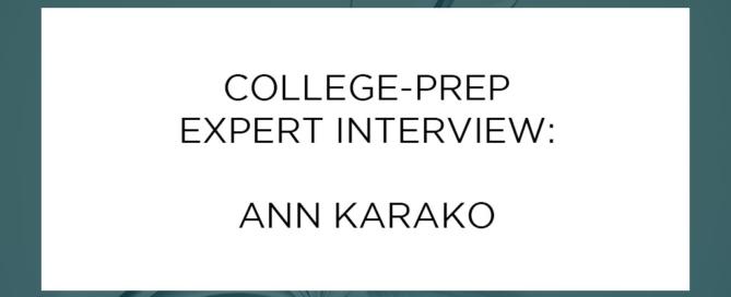 Ann Karako Interview
