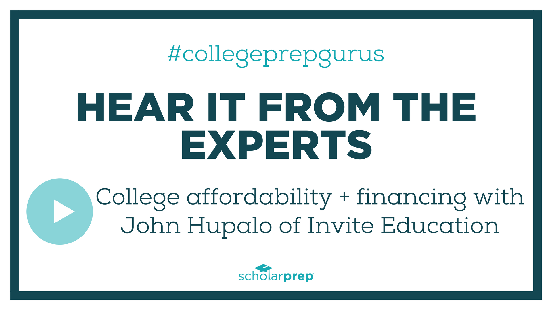 College affordability with John Hupalo of Invite Education